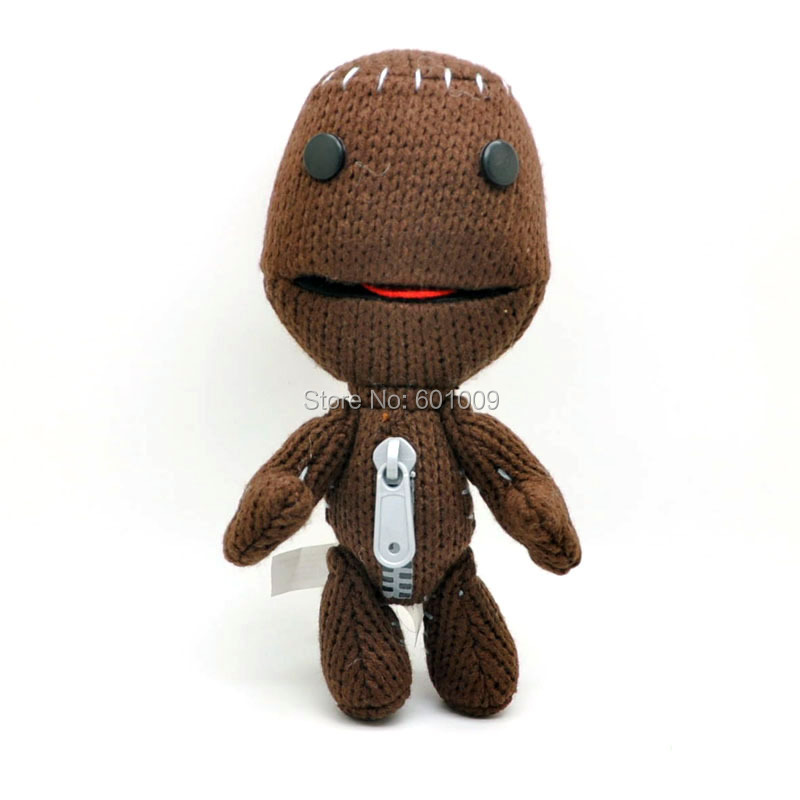 "Free Shipping EMS 30/Lot Little Big Planet Plush Toy Sackboy Cuddly Brown Knitted Stuffed Animal Doll funny figure Toys 7.5""(China (Mainland))"