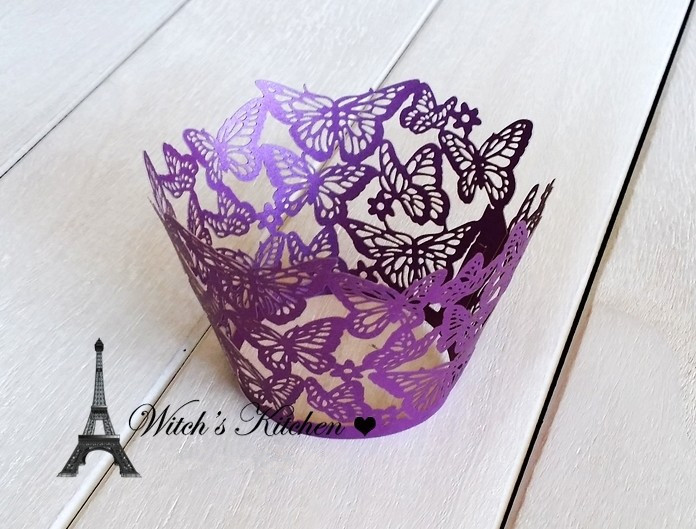 Free shipping butterfly cupcake decoration for wedding party birthday, new arrival color purple white black blue cupcake wrapper(China (Mainland))