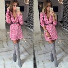 11.11.2015 Hot Summer Slim plaid decorative style women's standard thin section Long-sleeved shirt turn-down collar(China (Mainland))