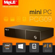 Fanless Intel Mini PC MeLE PCG09 Windows 10 Quad Core Bay Trail Z3735F 2GB / 32GB 2.5 HDD M.2 SSD Support HDMI VGA LAN WiFi BT(China (Mainland))