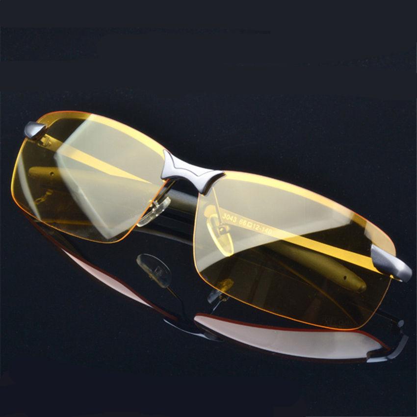 Yellow Night Vision Goggles Alloy Frame Polarized Sunglasses Men's Driver Sunglass Sport Men Glasses Driving Sun Glasses For Men(China (Mainland))