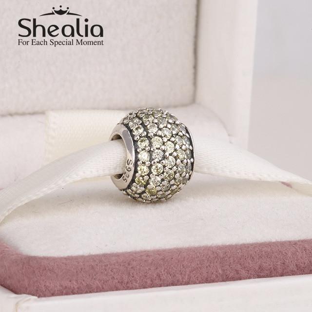 2015 новый подлинный стерлингового серебра 925 вымощают золотой циркон шар подвески для женщин известный браслеты браслеты diy изготовления ювелирных изделий