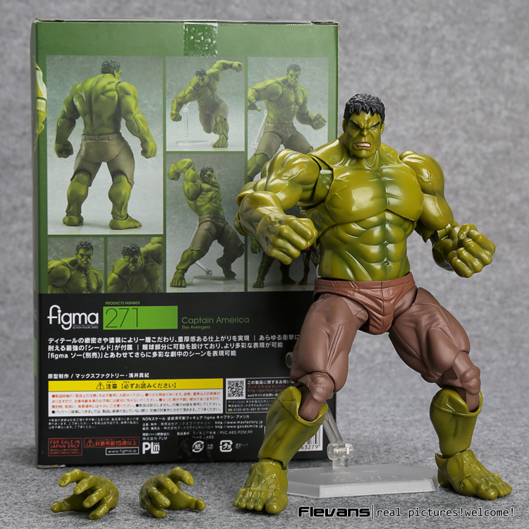Avengers Hulk Figma 271 PVC Action Figure Collectible Model Toy 19cm <br><br>Aliexpress