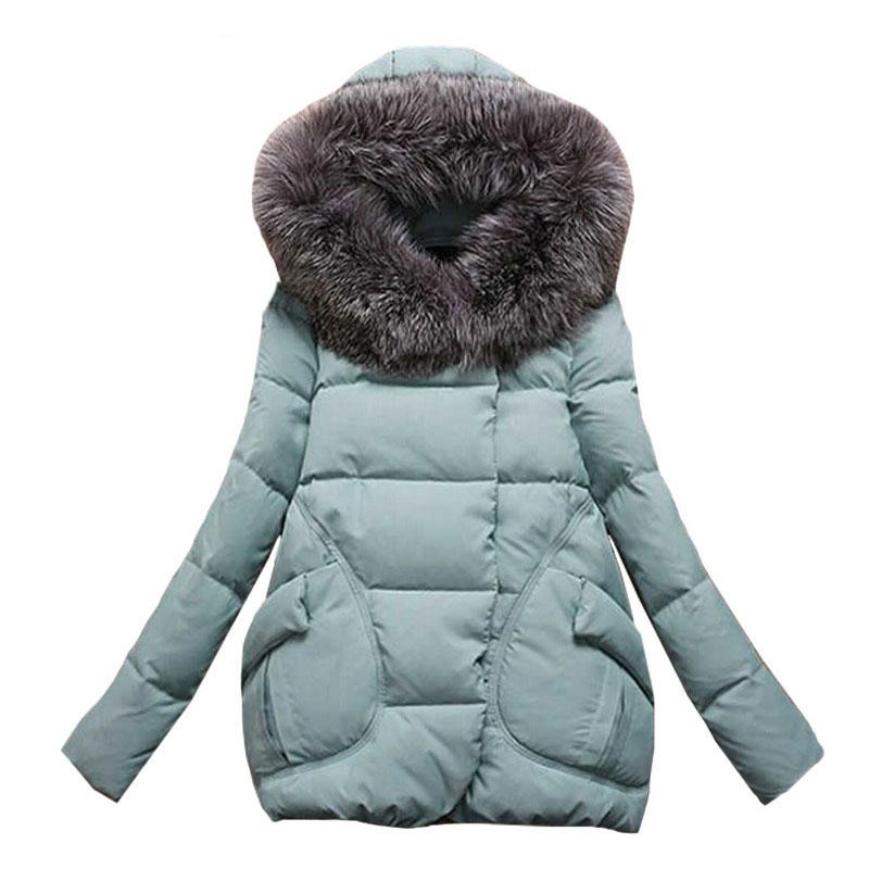 Winter Jacket Women Long Fur Hooded Winter Coat Women Cotton Padded Jacket Parka Cloak Womens Winter Jackets And Coats