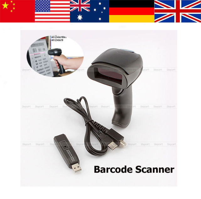 Handheld Wireless USB express surface Bar Code Reader Gun Laser Barcode Scanner(Hong Kong)