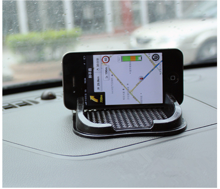 Universal Rubber Car non slip Mat Anti-slip Pad Sticky Dashboard Accessories Holder for iPhone Mobile PDA Phone MP3 free shpping(China (Mainland))