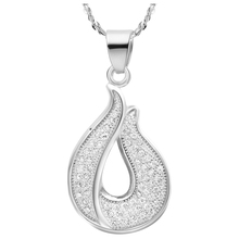 Charming New Lovely Design Elegant Bag Water Drop Setting Full Rhinestone Necklaces Pendants for Mother's Day Gift/Lovers' N511(China (Mainland))