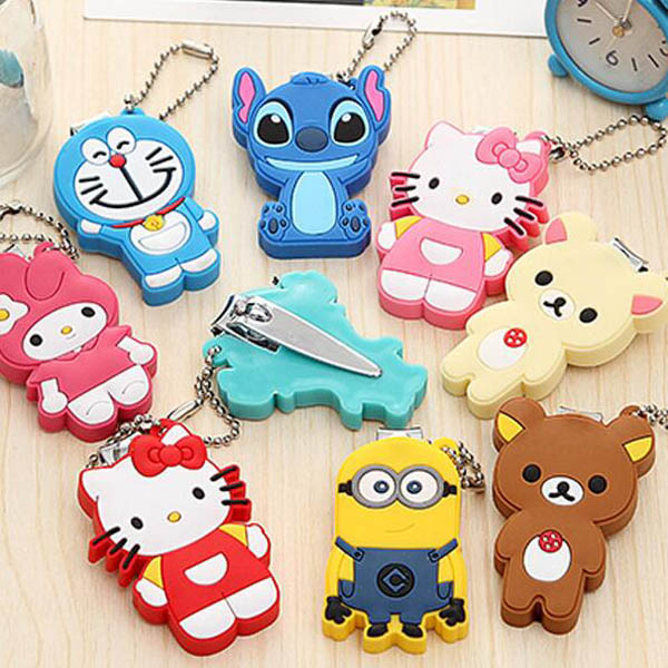 Cartoon Baby Nail Clipper Cute Infant Finger Trimmer Scissors Baby Nail Care with Hanging Function 1 Piece