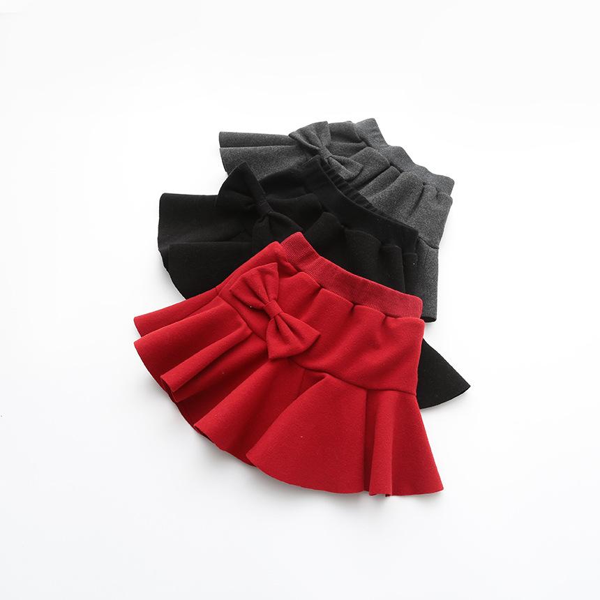Baby Girls Wool Blends Bow Skirts Kids Girls Fall Winter Ruffle TuTu Skirts 2016 Babies Princess skirt childrens clothing<br><br>Aliexpress