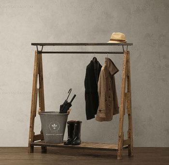 amerikanischen industriellen loft stil zu tun das alte holz garderobe kleiderb gel. Black Bedroom Furniture Sets. Home Design Ideas