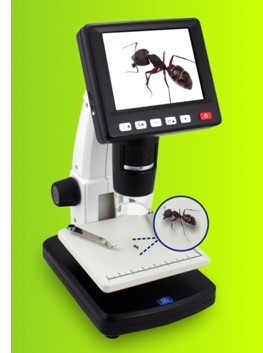"3.5"" LCD 8 LED True HD 5M Pixels 20-500x Digital Microscope with TV Out / USB Support SD Card / Multi Language(China (Mainland))"