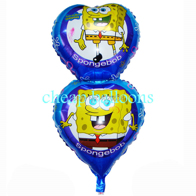 NEW SpongeBob Balloons 100pcs/lot party decor childrens Happy Birthday Party Baby Shower Favors Balloon decoration baby toy(China (Mainland))
