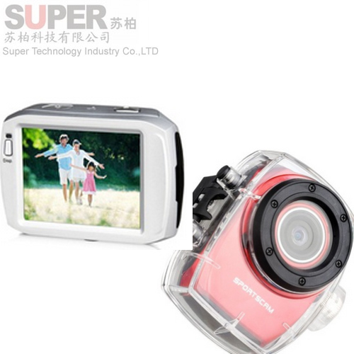 F31 Full HD 20M Waterproof Camera 1080P Sports Helmet Action Mini Video 2'4 LCD Camera Car DVR /Bike/Surfing/Outdoor Sport(China (Mainland))