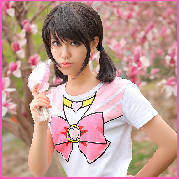 2015 japan anime cute girls sailor moon cosplay cotton t