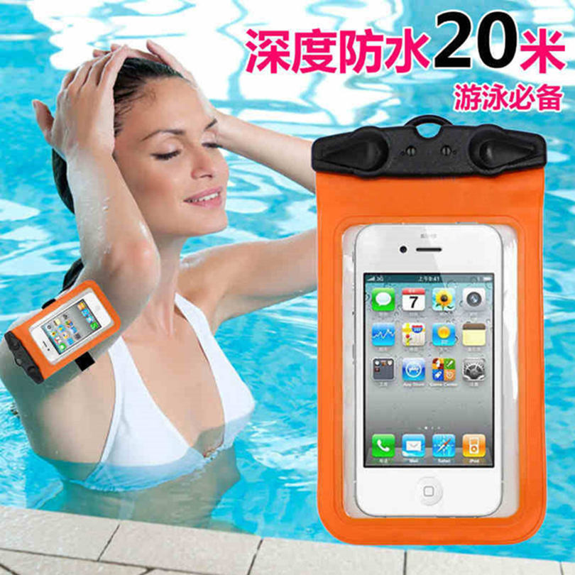Universal Waterproof Mobile Phone Bags with Strap Dry Pouch Cases Cover For Huawei Ascend G510 G520 G525 G330 G600 Phone Pouch(China (Mainland))