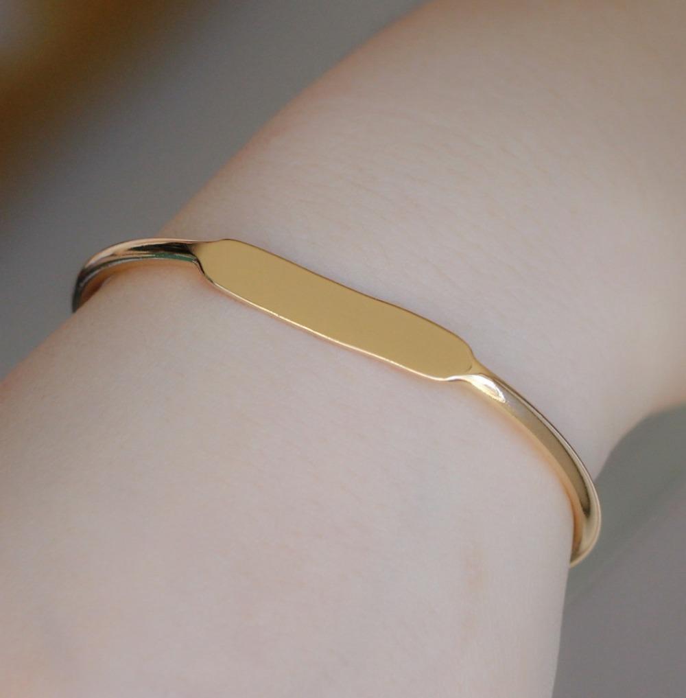 6pcs/lot costume jewellery top quality metal copper brass simple design bangle cuff bracelet(China (Mainland))