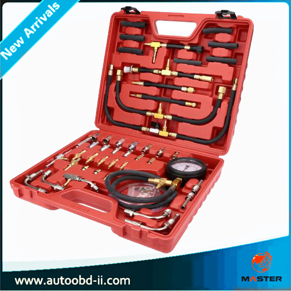 Free shipping TU-443 Deluxe Manometer Fuel Pressure Gauge Engine Testing Kit Fuel Injection Pump Tester Full System