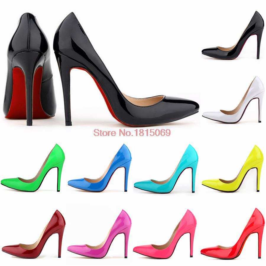 Best-selling 2015 women 11 cm high heels we work size pump sexy woman shoes red at the end of the wedding shoes free shipping(China (Mainland))