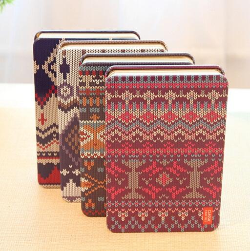 Vintage Sweet Creative Sweater Design handemade Iron cover Kraft Paper notebook/Korea style/wholesale(China (Mainland))