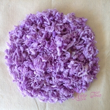 Wool Newborn Photography Props Basket Filler, Chunky Baby Blanket Pure Wool Filler Cushion Background Props Studio Photos Aided
