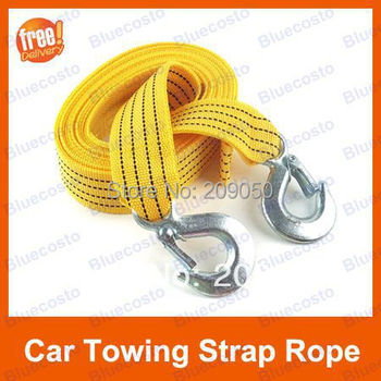 3 ton 8FT Car Towing Rope, Emergency Strap Cable with Hooks