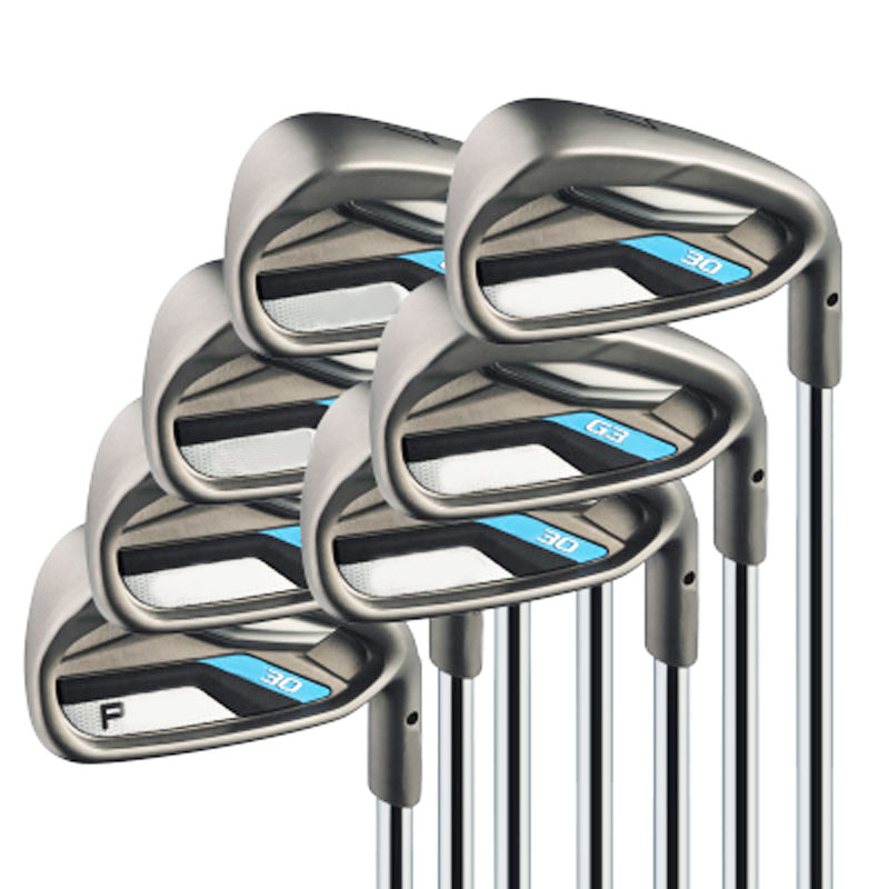 New mens Golf Clubs G30 Clubs irons set 3-9S.W(9pcs)Golf irons clubs with steel golf shaft R or stiff flex Free shipping(China (Mainland))