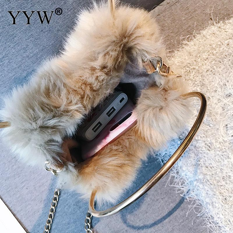3b7252070406 2018 Winter Soft Plush Faux Fur Bag Fashion Women Hairy Tote Bag ...