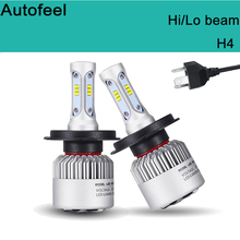 Buy Autofeel H4 Car-styling LED Headlight Bulb 9003 HB2 80W/pair 8000LM Headlights Hi/Lo Beam For Toyota Headlamp Conversion kit for $35.49 in AliExpress store