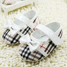 6 Colors Classics Plaid Baby Girls Newborn Shoes Soft Bottom Skid-proof First Walkers Toddler Footwear Bebe Gift 0-18months(China (Mainland))