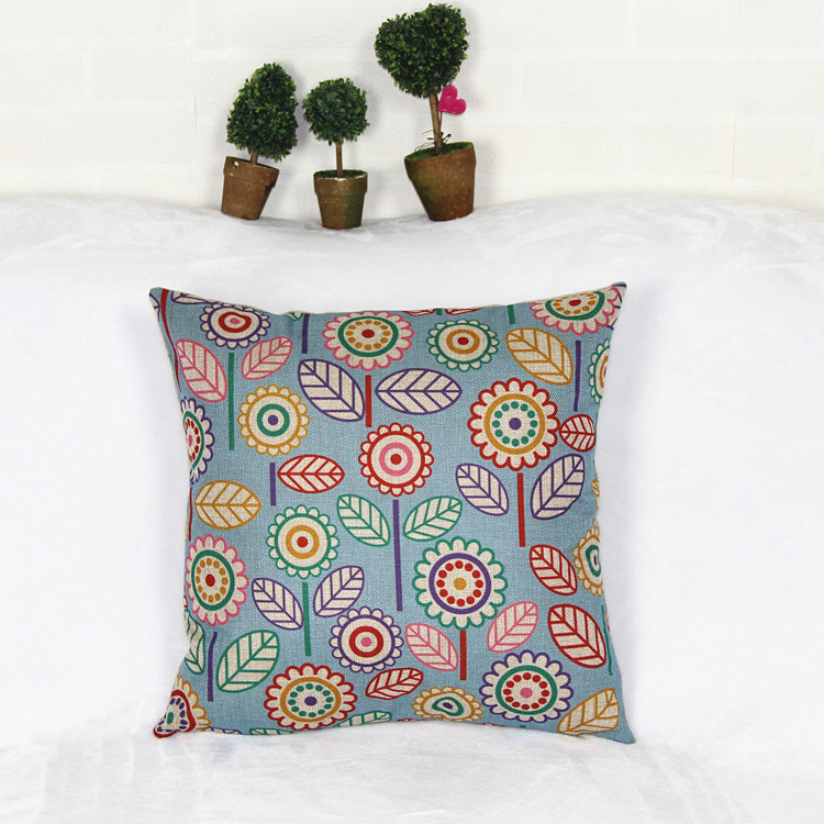 Manufacturers export custom synthesis linen pillow car cushion cover cushion covers Nordic cartoon pillow cojines(China (Mainland))
