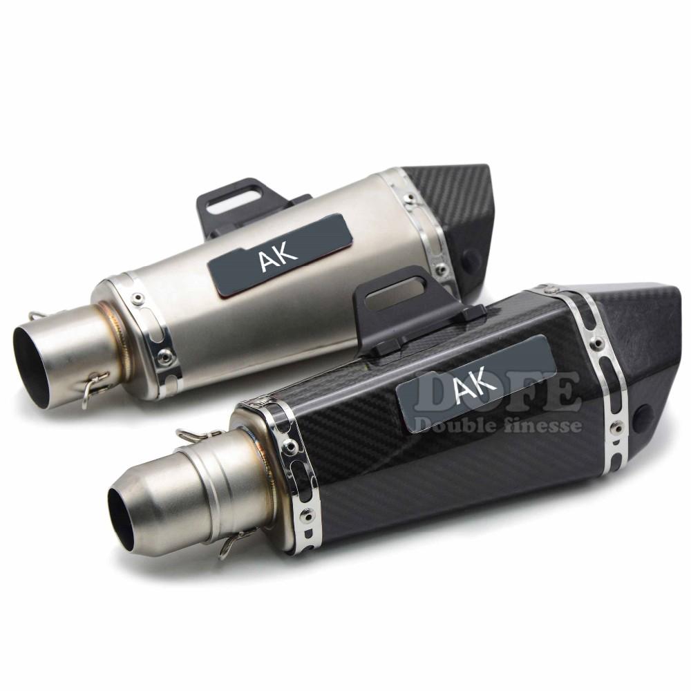 Купить Универсальный 36-51 мм Изменение AKRAPOVIC Выхлопной Трубы Мотоцикла Глушитель Для Yamaha FJR1300 BWs 125 FZ07 09 FZ1 FZ6R FZ8 MT09 MT07