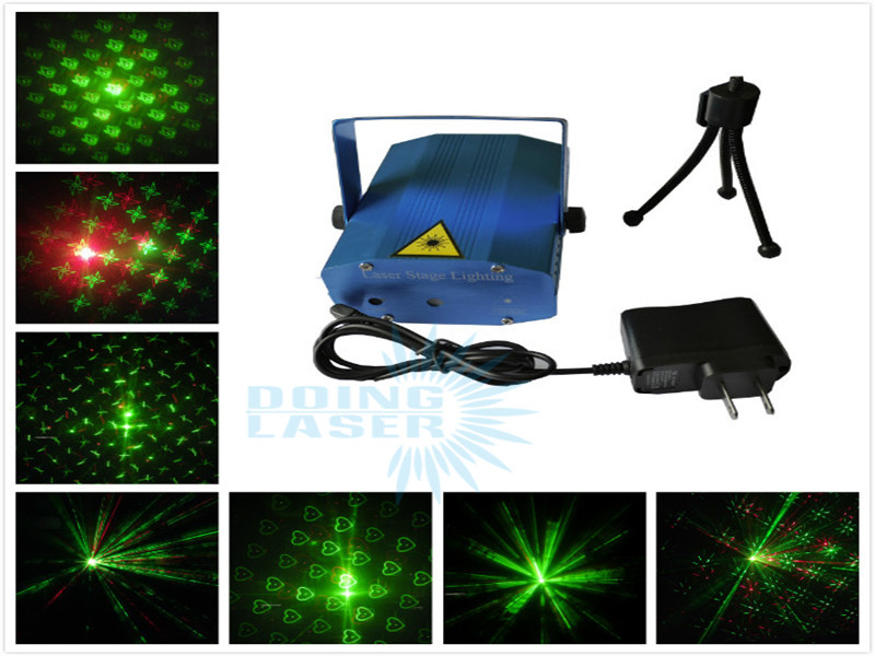 Dong Technology 2015 Popular Mini Projector Red &Green DJ Disco Light Stage Xmas Party Laser Lighting Show(China (Mainland))