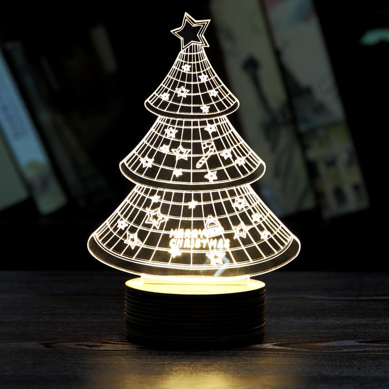3 Types 3D LED Night Light Light Mood Lamp Micro USB 3D LED Home Decor Table Lamp Night Lamp(China (Mainland))