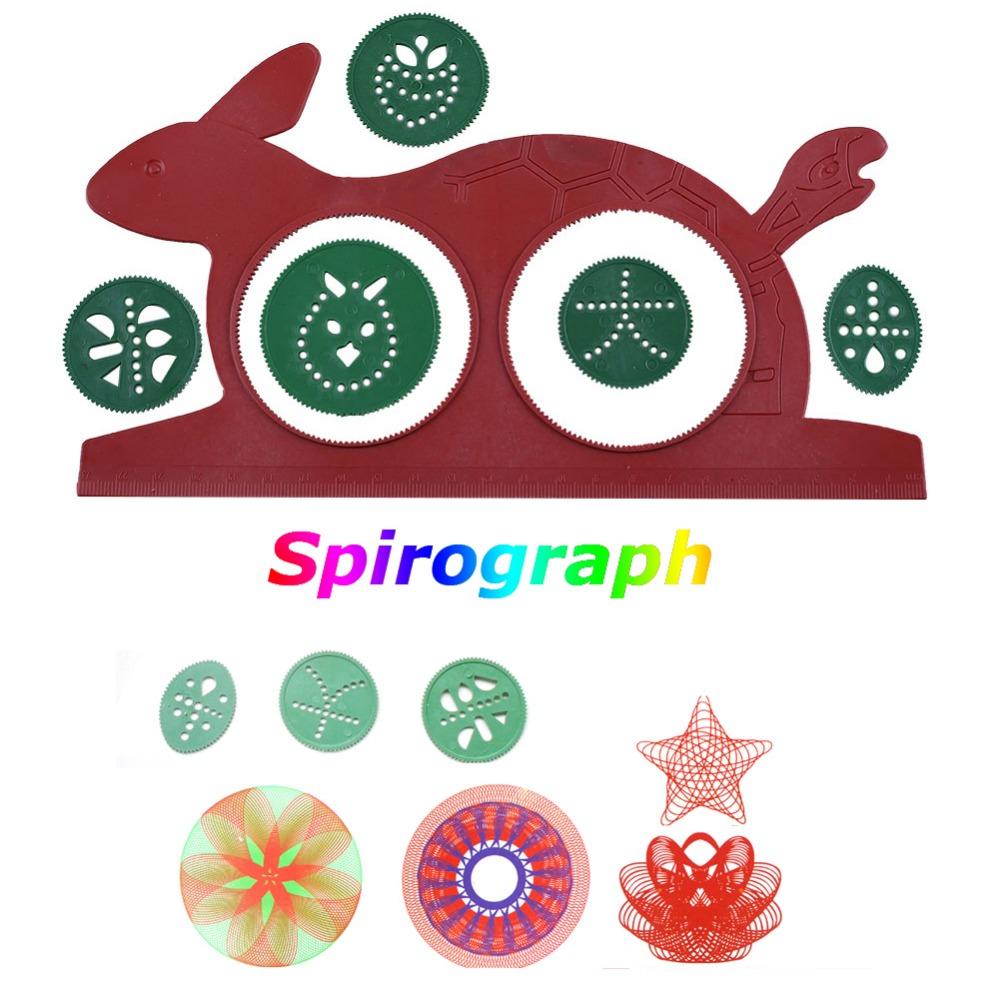 Spirograph Design Set Magic Turtle Rabbit Sketchpad Child Drawing Board Toys(China (Mainland))