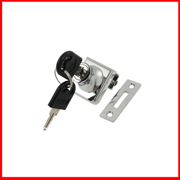 """Office Home Metal Keyed Cabinet Lock for 3/8"""" Hinged Glass Door"""