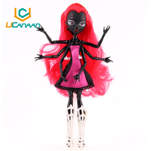 UCanaan Hot Selling 28CM Fashion Doll Wholesale Removable Black WYDOWNA Spider Polyarticular Free shipping Monster Doll Kid Toys(China (Mainland))