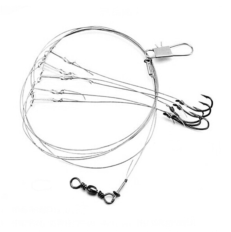 Hot selling sharphook with 5 small hooks stainless steel for Stainless steel fishing hooks