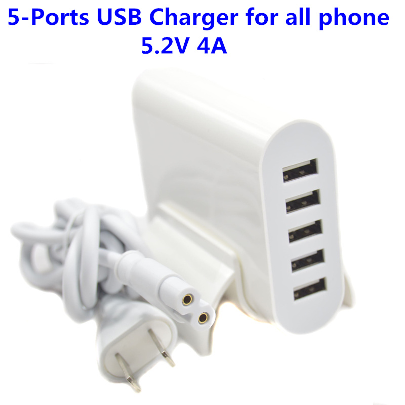 Free Ship EU US Plug 20W 5V 4A 5 Ports USB Charger Travel Adapter Fast Charging For iPhone for samsung for LG all Smart Phone(China (Mainland))