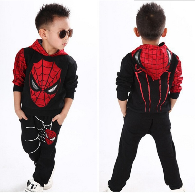 Real Picture 3-8Yrs 2016 Baby Boys Sport Cotton Clothing Set,Kids Cartoon Hoodies Fashion Clothes Suit,Boys Long Sleeves Clothes(China (Mainland))