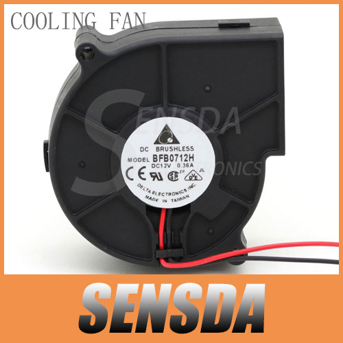 Free Shipping Original Delta BFB0712H 7530 DC 12V 0.36A projector blower centrifugal fan cooling fan(China (Mainland))