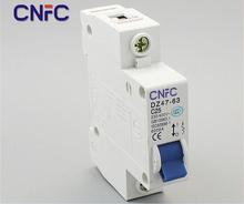 3шт DZ47-1P-25A 230 / 400 В ~ 50 / 60 HZ миниатюрное выключатель DZ47-63 предохранитель от перегрузки