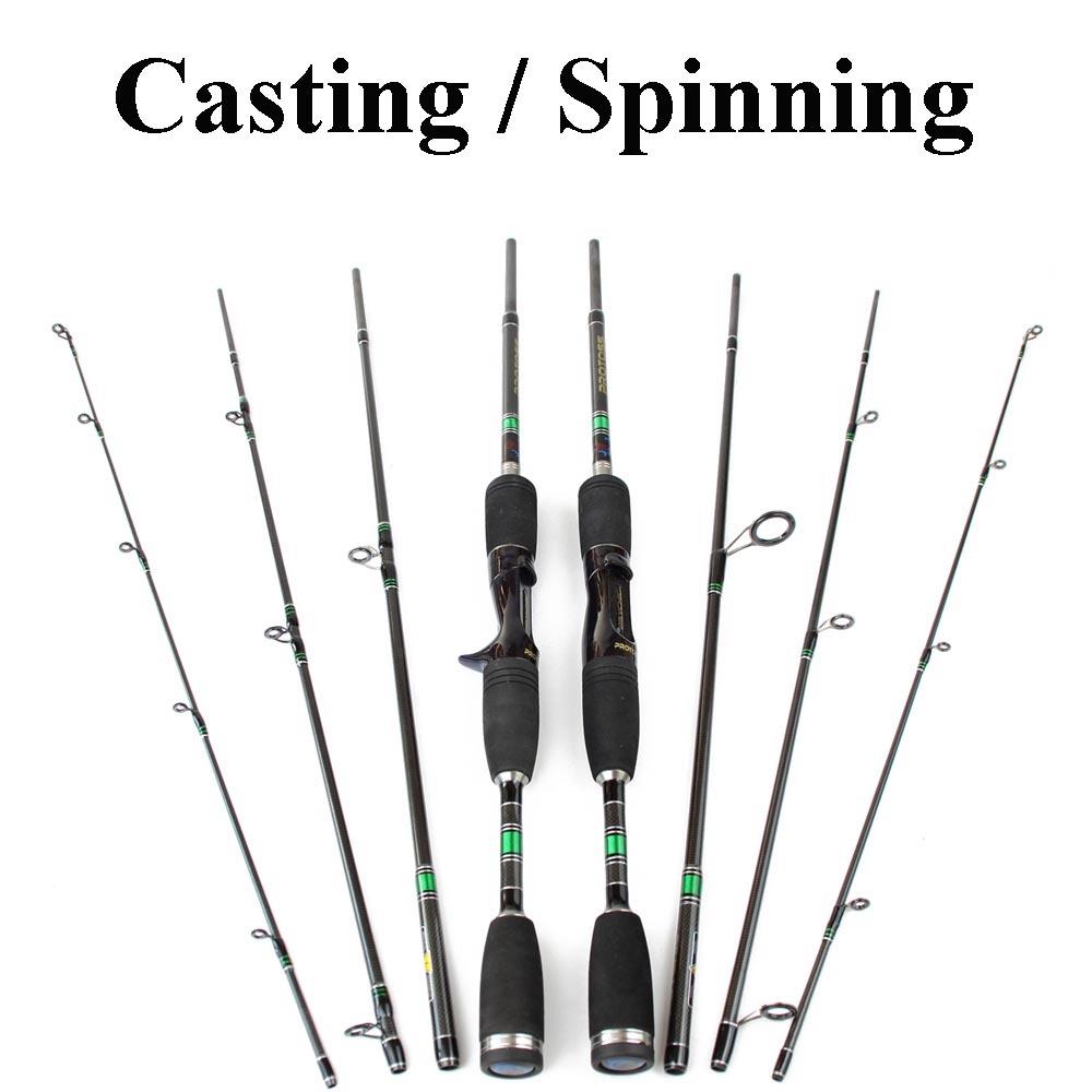99% Carbon Fiber Fishing Rod 1.98m 4 SEC Travel Spinning Rod Casting Rod Portable Lure Fishing Pole Vara De Pesca(China (Mainland))
