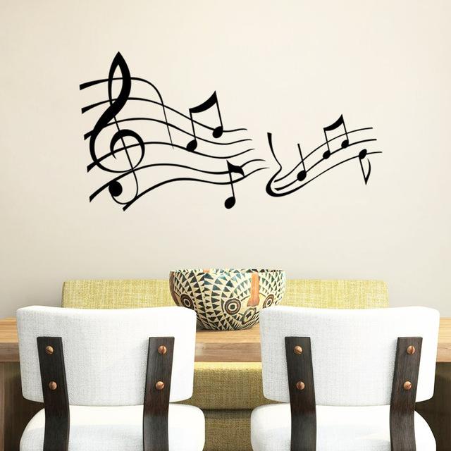 Музыка скажи цитата слово надписи искусство винил наклейка пропуск домашнего декора слова стены искусства наклейки 8317