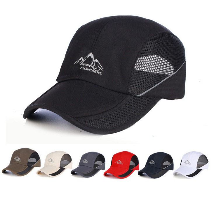 Hot sale mesh summer men's outdoor sports baseball cap fishing hat collapsible mesh caps freeshipping in 6 colors(China (Mainland))