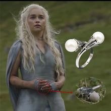 Game of Thrones Ring Daenerys Targaryen Pearl Ring Free shipping(China (Mainland))