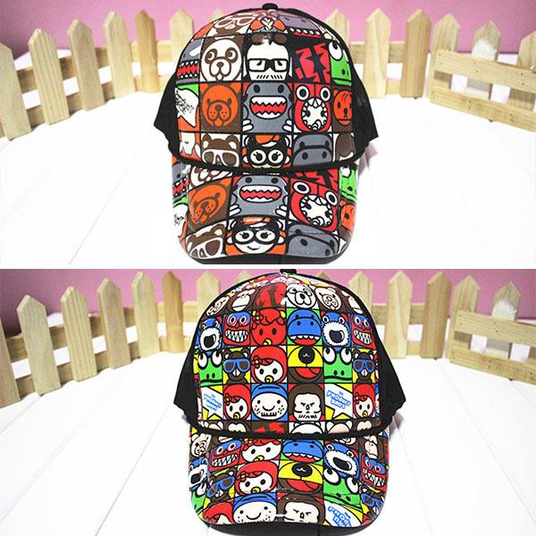Korean Hip Hop Style Baseball Cap Summer Animal Printed Ball Caps Snapbacks Unisex(China (Mainland))