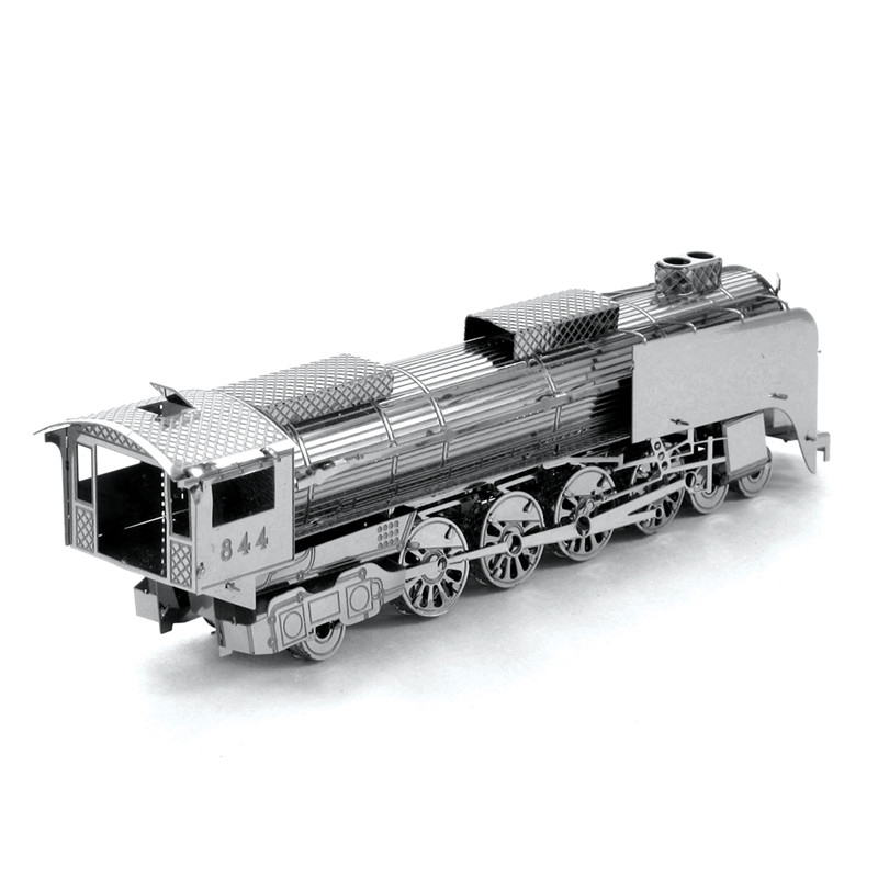 Miniature Steam Train 3D Metal Model Puzzle 3D Model Building Kits Puzzle 3D Solid Jigsaw Puzzle 1:1000+ Scale Model Building(China (Mainland))