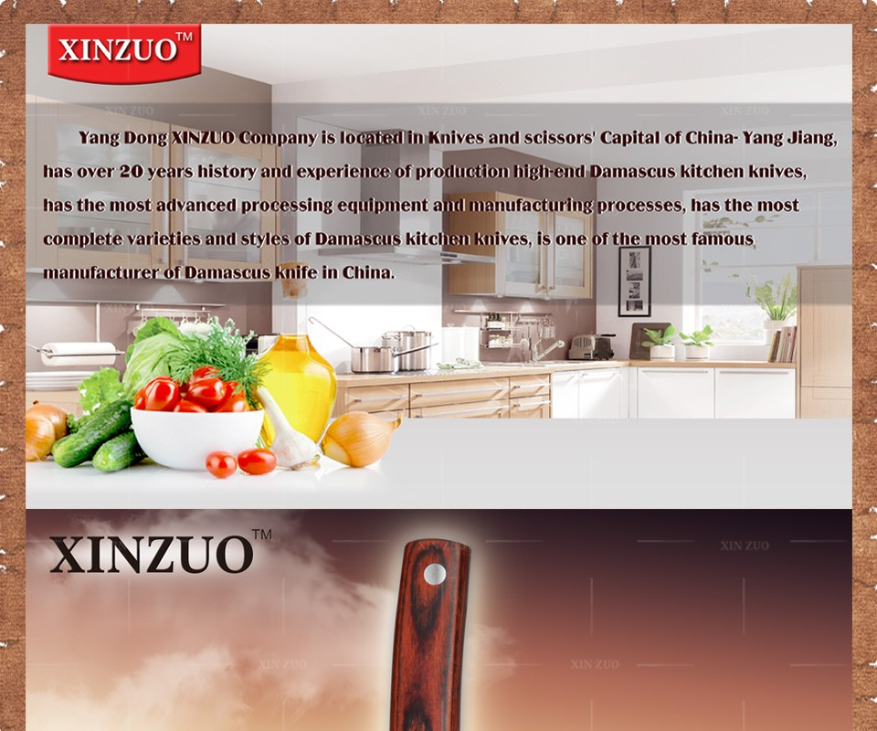 "Buy 2016 new XINZUO 5 "" japanese chef knife 67 layers Japanese Damascus kitchen knife VG10 santoku knife wood handle free shipping cheap"