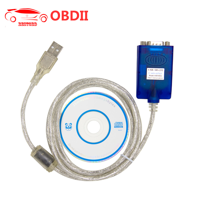 OBD2 Connector RS232 USB Cable with FT232RL Chip Com Communication Interface Converter RS232 / 485 / 422 Serial Expansion Card(China (Mainland))