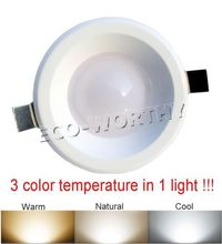 LED Ceiling light color temperature adjustable Downlight Warm/Natural/Cool light(China (Mainland))